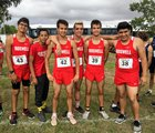 Roswell Coyotes Boys Varsity Cross Country Fall 18-19 team photo.