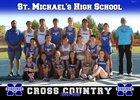 St. Michael's Horsemen Boys Varsity Cross Country Fall 18-19 team photo.