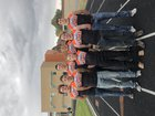 Capitan Tigers Boys Varsity Cross Country Fall 18-19 team photo.