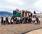 Volcano Vista Hawks Boys Varsity Cross Country Fall 18-19 team photo.