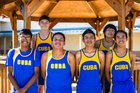 Cuba Rams Boys Varsity Cross Country Fall 18-19 team photo.