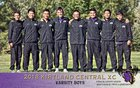 Kirtland Central Broncos Boys Varsity Cross Country Fall 18-19 team photo.