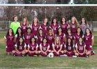 Los Banos Tigers Girls Varsity Soccer Winter 16-17 team photo.