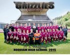 Hoquiam Grizzlies Boys Varsity Soccer Spring 14-15 team photo.