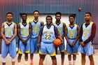 Rowe-Clark Masai Lions Boys Varsity Basketball Winter 16-17 team photo.