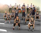 Pusch Ridge Christian Academy Lions Boys Varsity Basketball Winter 16-17 team photo.