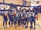 Cypress Creek Cougars Boys Varsity Basketball Winter 16-17 team photo.
