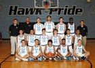 Gila Ridge Hawks Boys Varsity Basketball Winter 16-17 team photo.