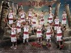 Mentor Cardinals Boys Varsity Basketball Winter 16-17 team photo.