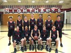 Murrieta Valley Nighthawks Boys Varsity Basketball Winter 16-17 team photo.