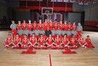 Mater Dei Monarchs Boys Varsity Basketball Winter 16-17 team photo.