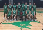 Myers Park Mustangs Boys Varsity Basketball Winter 16-17 team photo.