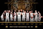 Mt. Pleasant Tigers Boys Varsity Basketball Winter 16-17 team photo.