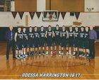 Odessa/Harrington Titans Boys Varsity Basketball Winter 16-17 team photo.