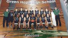 Green Hope Falcons Boys Varsity Basketball Winter 16-17 team photo.