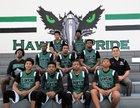 Hawkins Hawks Boys Varsity Basketball Winter 16-17 team photo.