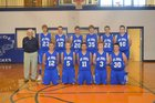 Mount Judea Eagles Boys Varsity Basketball Winter 16-17 team photo.