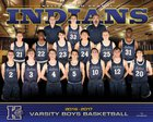 Keller Indians Boys Varsity Basketball Winter 16-17 team photo.