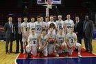 Newfield Trojans Boys Varsity Basketball Winter 16-17 team photo.