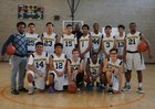 Animo Venice Pirates Boys Varsity Basketball Winter 16-17 team photo.