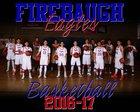 Firebaugh Eagles Boys Varsity Basketball Winter 16-17 team photo.