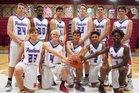 Bullard Panthers Boys Varsity Basketball Winter 16-17 team photo.