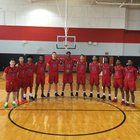Stevens Falcons Boys Varsity Basketball Winter 16-17 team photo.
