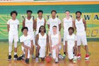 North Rowan Cavaliers Boys Varsity Basketball Winter 16-17 team photo.