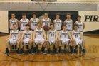 Jasper Pirates Boys Varsity Basketball Winter 16-17 team photo.