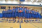 Clovis Cougars Boys Varsity Basketball Winter 16-17 team photo.