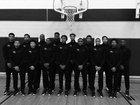 Morgan Park Mustangs Boys Varsity Basketball Winter 16-17 team photo.