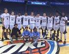 Oklahoma City Storm Storm Boys Varsity Basketball Winter 16-17 team photo.