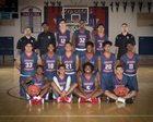 Modesto Christian Crusaders Boys Varsity Basketball Winter 16-17 team photo.