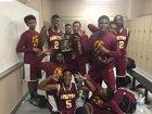 Barstow Aztecs Boys Varsity Basketball Winter 16-17 team photo.