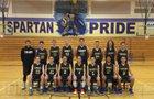 Sumner Spartans Boys Varsity Basketball Winter 16-17 team photo.