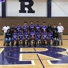 Riverside-Durham Pirates Boys Varsity Basketball Winter 16-17 team photo.