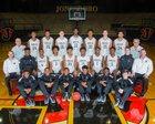 Jonesboro Hurricane Boys Varsity Basketball Winter 16-17 team photo.