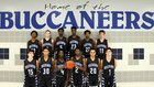 Brazoswood Buccaneers Boys Varsity Basketball Winter 16-17 team photo.