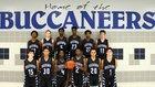 Brazoswood Buccaneers Boys Varsity Basketball Winter 16-17 team photo.