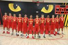Corona Panthers Boys Varsity Basketball Winter 16-17 team photo.