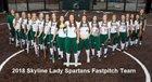 Skyline Spartans Girls Varsity Softball Spring 17-18 team photo.