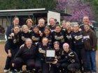 Churubusco Eagles Girls Varsity Softball Spring 17-18 team photo.