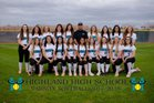 Highland Hawks Girls Varsity Softball Spring 17-18 team photo.
