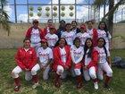 Santa Ana Saints Girls Varsity Softball Spring 17-18 team photo.