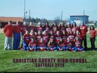 Christian County Colonels Girls Varsity Softball Spring 17-18 team photo.