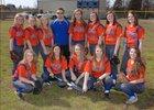 Cedar Ridge Timberwolves Girls Varsity Softball Spring 17-18 team photo.