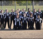 Brinkley Tigers Girls Varsity Softball Spring 17-18 team photo.