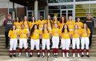 Capital Cougars Girls Varsity Softball Spring 17-18 team photo.