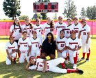 Garden Grove Argonauts Girls Varsity Softball Spring 17-18 team photo.