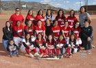 Grants Pirates Girls Varsity Softball Spring 17-18 team photo.